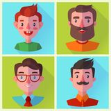 Set of man characters in flat design style. Vector illustration. vector illustration