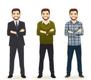 Set of man in different clothes Stock Photos