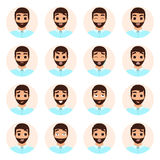 Set of man emotions icons Stock Images