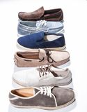 Set of man footwear on a white background Stock Photo