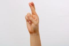 Set of man hand gestures Stock Photos