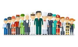 Set of man ocuupations vector illustration