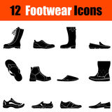 Set of man's footwear icons Royalty Free Stock Image