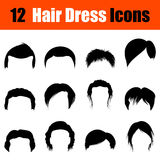Set of man's hairstyles icons Stock Photo