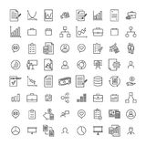 Set of management thin line icons Royalty Free Stock Photo