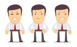 Set of manager character in different interactive Royalty Free Stock Photo