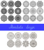 Set of 26 mandala design, circle ornament. Collection for print, or web, abstract round geometric pattern vector illustration vector illustration