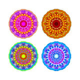 Set mandala different color Stock Photography