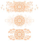 Set of mandala in green with decorations  Stock Photography