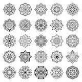 Set of mandalas. Royalty Free Stock Image