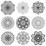 Set of mandalas Stock Photo