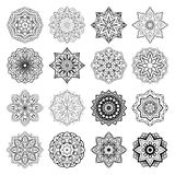Set of mandalas. Stock Photography