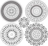 Set of mandalas. Stock Image