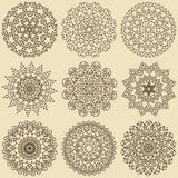 Set of mandalas. Decorative round ornaments. stock image