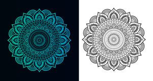 Set mandalas dla kolorystyki ksi??ki Dekoracyjni round ornamenty ilustracji
