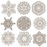 Set of Mandalas. Ethnic decorative elements. Islam, Arabic, Indi Stock Image