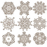Set of Mandalas. Ethnic decorative elements. Islam, Arabic, Indi Royalty Free Stock Photo