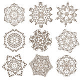 Set of Mandalas. Ethnic decorative elements. Islam, Arabic, Indi Royalty Free Stock Photography