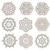 Set of Mandalas. Ethnic decorative elements. Islam, Arabic, Indi Stock Photos
