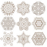 Set of Mandalas. Ethnic decorative elements. Islam, Arabic, Indi Stock Photography