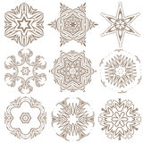 Set of Mandalas. Ethnic decorative elements. Islam, Arabic, Indi Royalty Free Stock Image