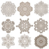 Set of Mandalas. Ethnic decorative elements. Islam, Arabic Royalty Free Stock Images