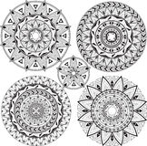 Set mandalas Stock Photography