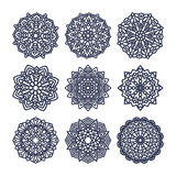 Set of mandalas. Indian wedding meditation. Royalty Free Stock Images