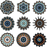 Set of mandalas in turkish style Royalty Free Stock Images