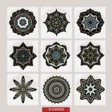 Set Of Mandalas. Vector Ethnic Oriental Circle Ornament. Stock Image