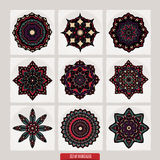 Set Of Mandalas. Vector Ethnic Oriental Circle Ornament. Stock Photos