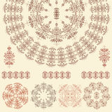 Set of mandalas (Vector) Royalty Free Stock Image
