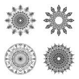 Set of mandalas. Vintage decorative elements. Oriental pattern,  on white background Stock Photography