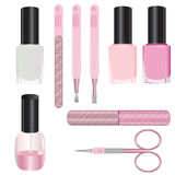 Set of manicure accessories Royalty Free Stock Photo