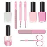 Set manicure akcesoria Zdjęcie Royalty Free