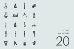 Set of manicure icons Stock Photography