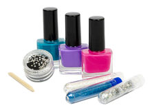 Set for manicure and pedicure with optional accessories. Isolated Stock Images