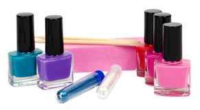 Set for manicure and pedicure with optional accessories. Isolated Royalty Free Stock Photography