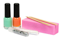 Set for manicure and pedicure with optional accessories. Isolated Stock Photo