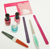 Manicure set. Set for manicure on white background Stock Images