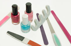 Manicure. Set for manicure on white background Royalty Free Stock Photo