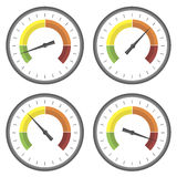 Set of Manometer Icons Stock Images