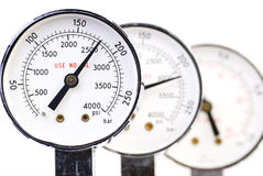 Set of manometers Stock Images