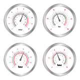 Set of manometers Royalty Free Stock Image