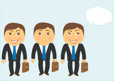 Set mans with other faces Royalty Free Stock Photos
