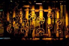 Manual shut off valves stock image