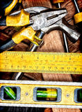 Set of manual tools Royalty Free Stock Images