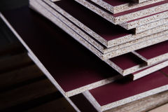 Set in the manufacture of chipboard Stock Images