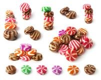 Set of many colorfull sweets. Set of colorfull sweets isolated on white background Stock Photography