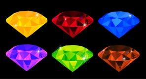 Set of many-coloured gems. Vector illustration - set of many-coloured gems stock illustration